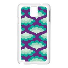 Purple Flower Fan Samsung Galaxy Note 3 N9005 Case (white) by Jojostore
