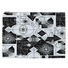 Point Line Plane Themed Original Design Cosmetic Bag (xxl)  by Jojostore