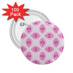 Peony Photo Repeat Floral Flower Rose Pink 2 25  Buttons (100 Pack)  by Jojostore