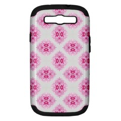 Peony Photo Repeat Floral Flower Rose Pink Samsung Galaxy S Iii Hardshell Case (pc+silicone) by Jojostore