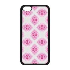 Peony Photo Repeat Floral Flower Rose Pink Apple Iphone 5c Seamless Case (black) by Jojostore