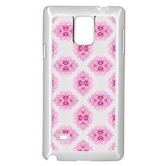 Peony Photo Repeat Floral Flower Rose Pink Samsung Galaxy Note 4 Case (White) by Jojostore