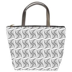 Plaid Black Bucket Bags by Jojostore