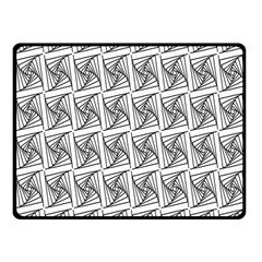Plaid Black Fleece Blanket (Small) by Jojostore