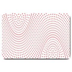 Red Circle Large Doormat  by Jojostore