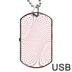 Red Circle Dog Tag Usb Flash (two Sides) by Jojostore