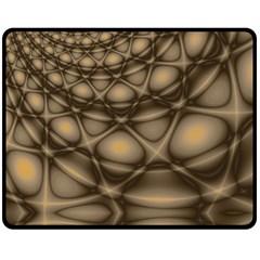 Rocks Metal Fractal Pattern Fleece Blanket (medium)  by Jojostore