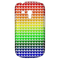 Rainbow Love Heart Valentine Orange Yellow Green Blue Galaxy S3 Mini by Jojostore