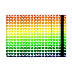 Rainbow Love Heart Valentine Orange Yellow Green Blue Ipad Mini 2 Flip Cases by Jojostore