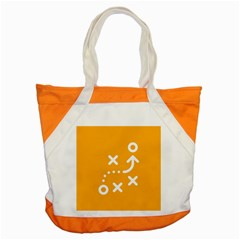 Sign Yellow Strategic Simplicity Round Times Accent Tote Bag