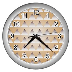 Pattern Retro Background Texture Wall Clocks (silver)  by Nexatart