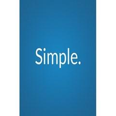 Simple Feature Blue 5.5  x 8.5  Notebooks by Jojostore