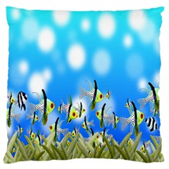 Pisces Underwater World Fairy Tale Large Cushion Case (one Side) by Nexatart