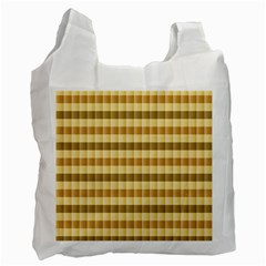 Pattern Grid Squares Texture Recycle Bag (Two Side)  by Nexatart