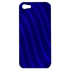 Sparkly Design Blue Wave Abstract Apple Iphone 5 Hardshell Case by Jojostore