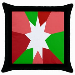 Star Flag Color Throw Pillow Case (Black)