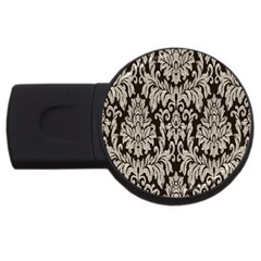 Wild Textures Damask Wall Cover Usb Flash Drive Round (2 Gb) by Jojostore