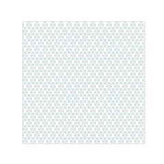 Web Grey Flower Pattern Small Satin Scarf (square) by Jojostore