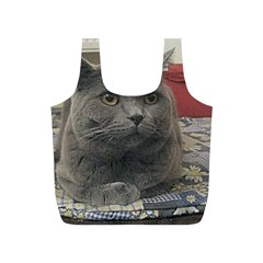 British Shorthair Grey Full Print Recycle Bags (S)  by TailWags