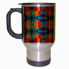 Pop Art Abstract Design Pattern Travel Mug (silver Gray) by Nexatart