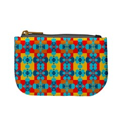 Pop Art Abstract Design Pattern Mini Coin Purses