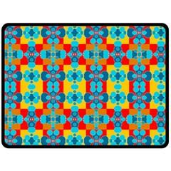 Pop Art Abstract Design Pattern Double Sided Fleece Blanket (large)  by Nexatart
