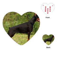Doberman Pinscher Black Full Playing Cards (heart)  by TailWags