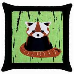 Red Panda Bamboo Firefox Animal Throw Pillow Case (Black)