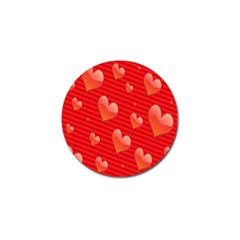 Red Hearts Golf Ball Marker (4 pack)