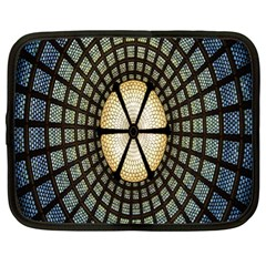 Stained Glass Colorful Glass Netbook Case (XL)  by Nexatart