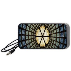Stained Glass Colorful Glass Portable Speaker (black) by Nexatart