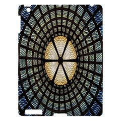 Stained Glass Colorful Glass Apple Ipad 3/4 Hardshell Case by Nexatart