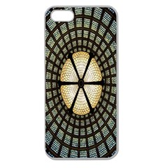 Stained Glass Colorful Glass Apple Seamless Iphone 5 Case (clear) by Nexatart