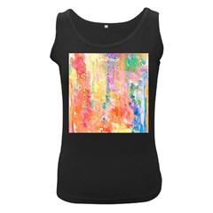 Watercolour Watercolor Paint Ink  Women s Black Tank Top by Nexatart