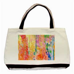 Watercolour Watercolor Paint Ink  Basic Tote Bag by Nexatart