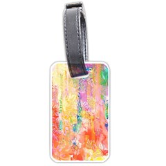 Watercolour Watercolor Paint Ink  Luggage Tags (two Sides) by Nexatart