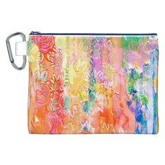 Watercolour Watercolor Paint Ink  Canvas Cosmetic Bag (xxl) by Nexatart