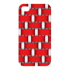 Weave And Knit Pattern Seamless Background Wallpaper Apple Iphone 4/4s Hardshell Case by Nexatart