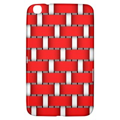 Weave And Knit Pattern Seamless Background Wallpaper Samsung Galaxy Tab 3 (8 ) T3100 Hardshell Case  by Nexatart