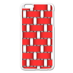 Weave And Knit Pattern Seamless Background Wallpaper Apple Iphone 6 Plus/6s Plus Enamel White Case by Nexatart