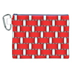 Weave And Knit Pattern Seamless Background Wallpaper Canvas Cosmetic Bag (xxl) by Nexatart