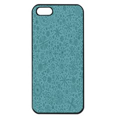 White Noise Snow Blue Apple Iphone 5 Seamless Case (black) by Jojostore