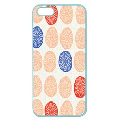 Wheel Circle Red Blue Apple Seamless iPhone 5 Case (Color)