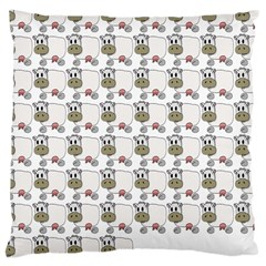 Cow Eating Line Large Cushion Case (one Side) by Jojostore