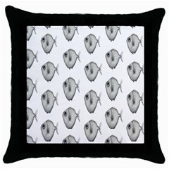 Fish Ikan Piranha Throw Pillow Case (Black)