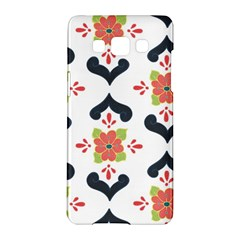 Flower Rose Floral Purple Pink Green Leaf Samsung Galaxy A5 Hardshell Case  by Jojostore