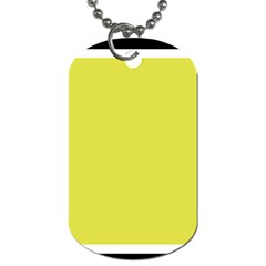 Fun Little Green Wave Dog Tag (two Sides) by Jojostore