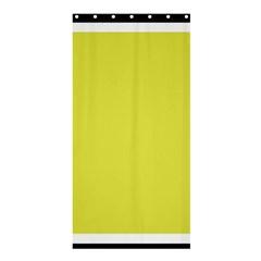 Fun Little Green Wave Shower Curtain 36  X 72  (stall)  by Jojostore