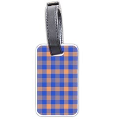 Fabric Colour Blue Orange Luggage Tags (one Side)  by Jojostore