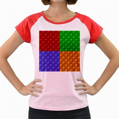 Number Plaid Colour Alphabet Red Green Purple Orange Women s Cap Sleeve T Shirt by Jojostore